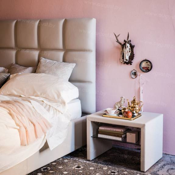 """Кровать с мягким изголовьем AL-0006 """"Cioccolato"""""""