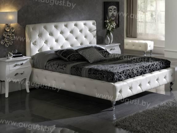 """Кровать с мягким изголовьем AL-0044 """"Fuji"""""""