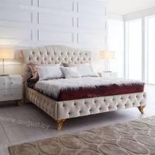 """Кровать с мягким изголовьем AL-0002 """"Magnesia"""""""