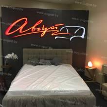 """Кровать с мягким изголовьем AL-0045 """"LOFT"""""""