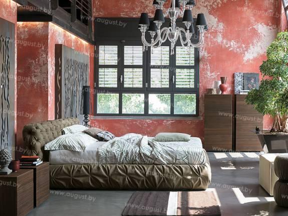 """Кровать с мягким изголовьем AL-0009 """"Bolzano"""""""