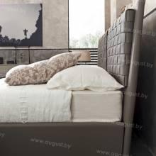 """Кровать с мягким изголовьем AL-0010 """"Viminitta"""""""