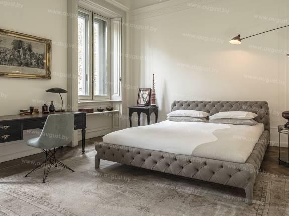 """Кровать с мягким изголовьем AL-0080 """"Louvre"""""""