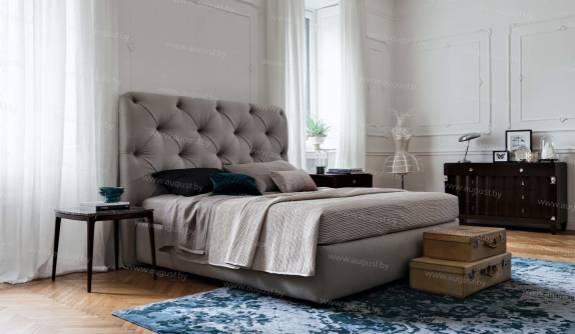 """Кровать с мягким изголовьем AL-0058 """"Silvia"""""""