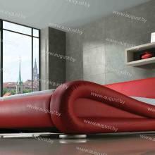 """Кровать с мягким изголовьем AL-0053 """"Ferrari"""""""
