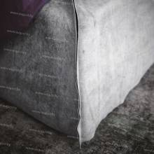 """Кровать с мягким изголовьем AL-0700 """"Monte Carlo"""" (Grey)"""