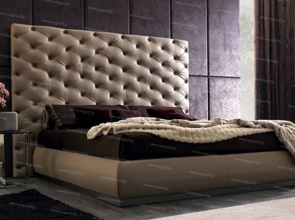 """Кровать с мягким изголовьем AL-0028 """"Romeo"""""""
