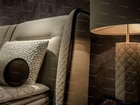 """Кровать с мягким изголовьем AL-0345 """"Bentley"""""""