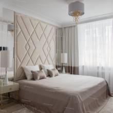 Мягкие стеновые панели ASW-0002 в комплекте с кроватью