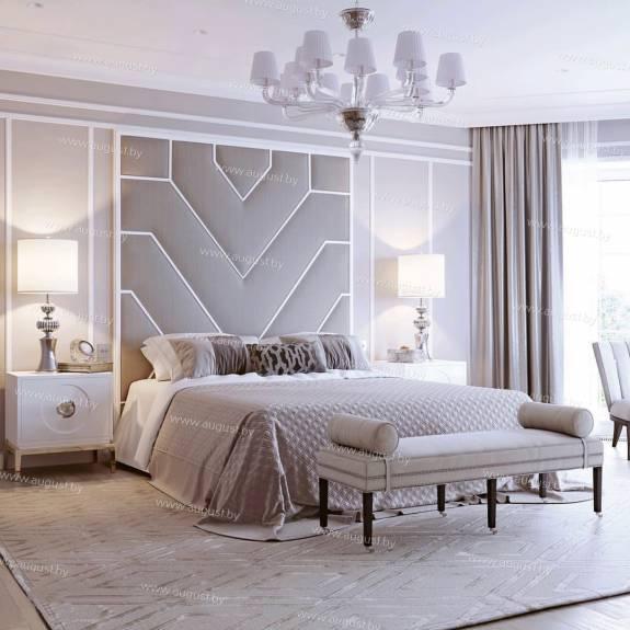 Мягкие стеновые панели ASW-0003 в комплекте с кроватью