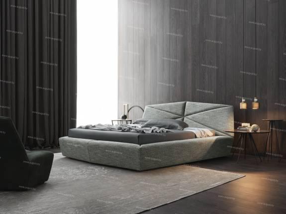 """Кровать с мягким изголовьем AL-0070 """"Pazzle"""""""