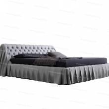 """Кровать с мягким изголовьем AL-0335 """"Casper the Friendly Ghost"""""""