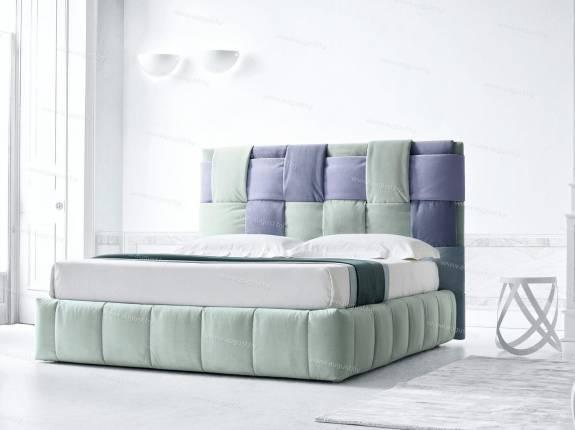 """Кровать с мягким изголовьем AL-0350 """"Twister"""""""