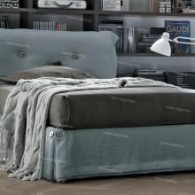 """Кровать с мягким изголовьем AL-0020 """"Young Milky Way"""""""