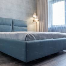 """Кровать с мягким изголовьем AL-0066 """"Molli"""""""
