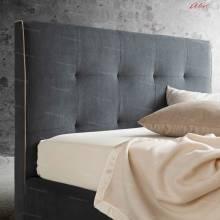 """Кровать с мягким изголовьем AL-0073 """"Love Me"""""""