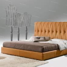 """Кровать с мягким изголовьем AL-0067 """"Luvia"""""""