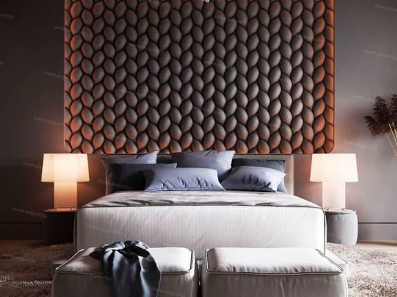 """Кровать с мягким изголовьем AL-0071 """"Loft King"""""""""""