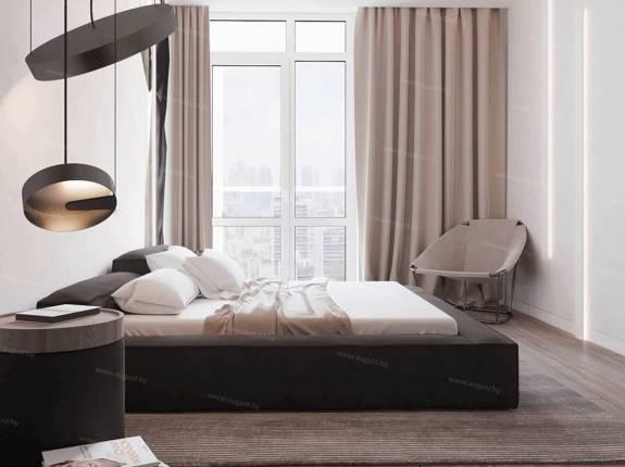 """Кровать с мягким изголовьем AL-0072 """"Loft Symphony"""""""