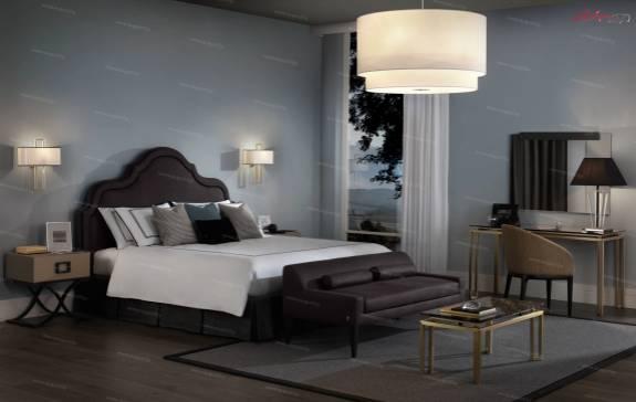 """Кровать с мягким изголовьем AL-0075 """"Maroccana"""""""