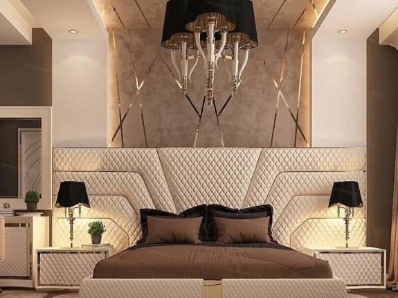 Мягкие кровати из текстиля, экокожи, кожи