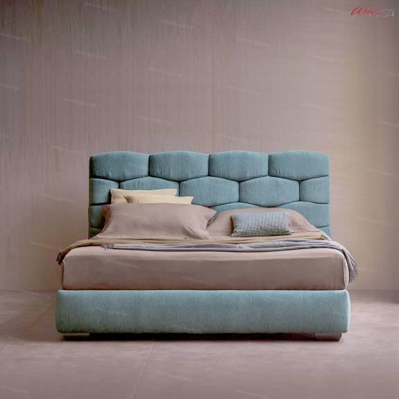 """Кровать с мягким изголовьем AL-0085 """"Mattoni"""""""