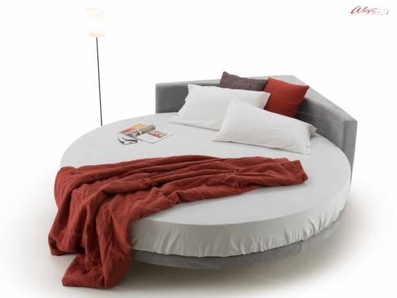 """Круглая кровать с мягким изголовьем """"AUGUST ARL-0004"""""""