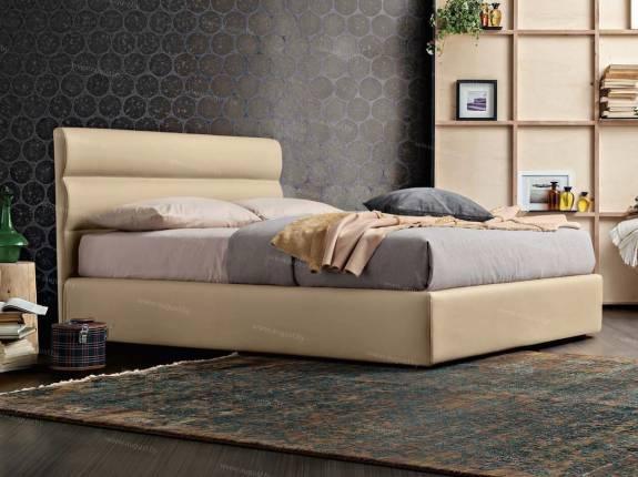 """Кровать с мягким изголовьем AL-0074 """"Salchitta"""""""