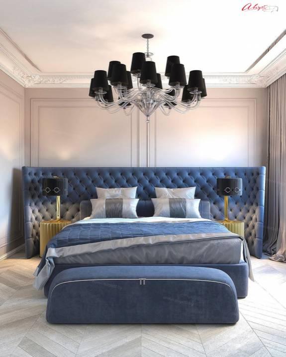 """Кровать с мягким изголовьем AL-0076 """"Cacharel"""""""