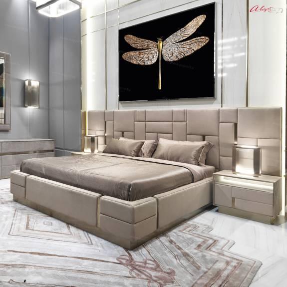 """Кровать с мягким изголовьем AL-0401 """"Cleopatra"""""""