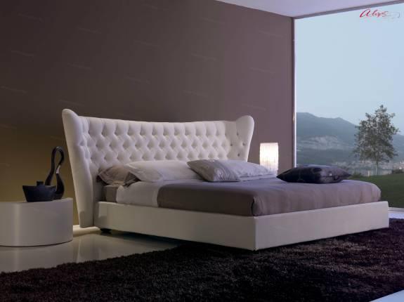 """Кровать с мягким изголовьем AL-0001 """"August My Queen"""""""