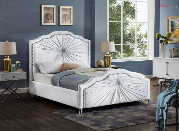 "Кровать с мягким изголовьем AL-0096 ""August Pretoria"" white"