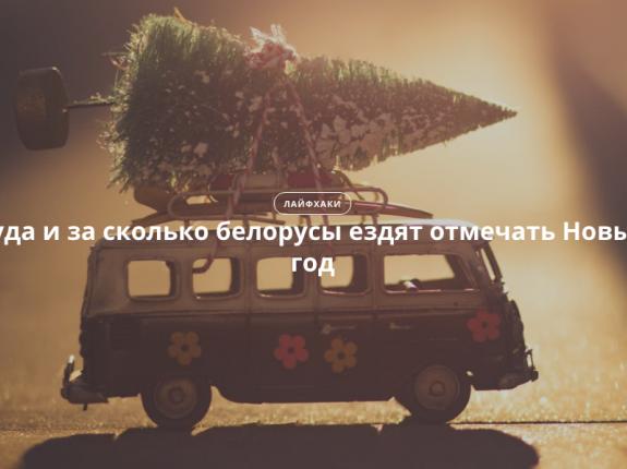 Куда и за сколько белорусы ездят отмечать Новый год
